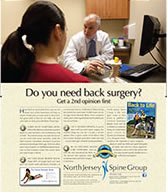 Back surgery consultation brochure