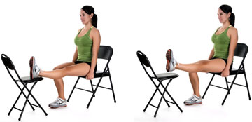 Horizontal Straight-Leg Raise with Chair exercise